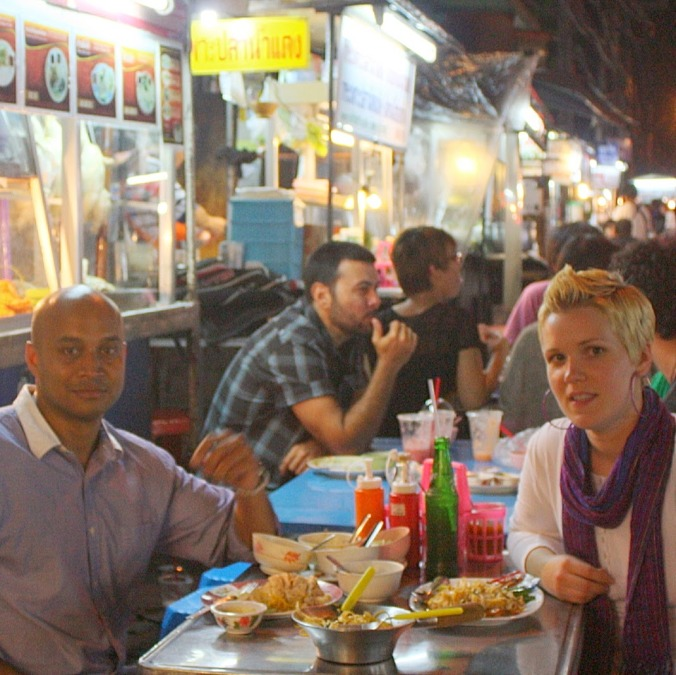 Eating our way through Bangkok in 2011.