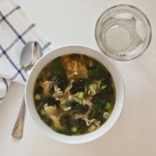 Asian-style chicken soup.