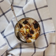 Yogurt with nuts & honey.