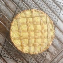 Ricotta-cherry tart (just a slice!).